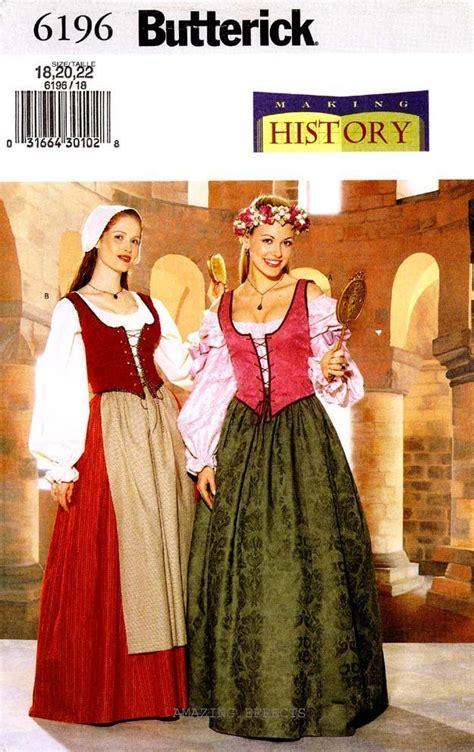 Bs 6196 Aiko Shirt renaissance dress patterns for renaissance dress patterns for butterick pattern