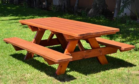 wooden picnic benches build a picnic table and benches quick woodworking projects