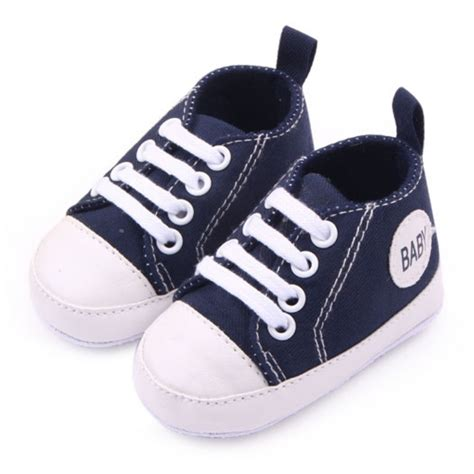 crib shoes infant 0 12months toddler canvas sneakers baby boy