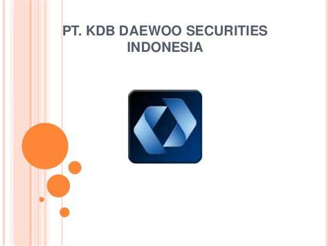 Daewoo Securities Investasi Saham Daewoo Securities