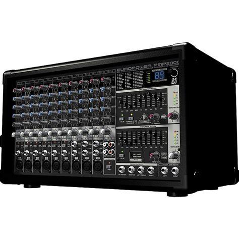 Ready Behringer Pmp 2000 D Powered Power Mixer Audio 2000 Watt behringer europower pmp2000 powered mixer musician s friend