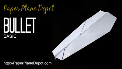 How To Make Paper Darts - bullet plane paper plane depot