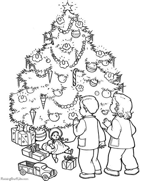 Christmas Tree Coloring Pages Coloring Book 32 Free Coloring For