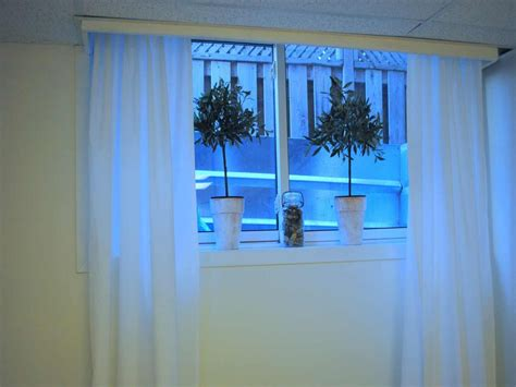 curtains for basement windows white kitchen cabinet with blue backsplash small curtains