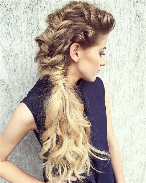 Prom Hairstyles To The Side by Prom Hair To The Side Curly With Braid Www Pixshark