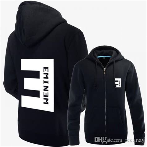 eminem zip 2017 eminem zip up hoodie jacket with big e logo on the