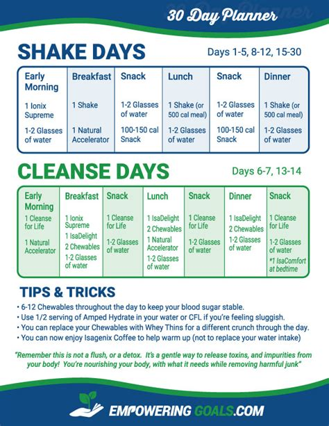 Isagenix Detox Schedule by Achieve Your Isagenix Cleanse Day With This Schedule