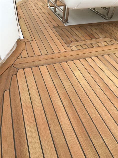 new teak decking cockpit on fountain go fast boat teak decking pinterest teak fountain