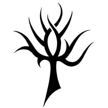 tribal tattoo tree ankh resembles a tribal tree design tattoowoo