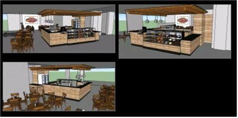 cafeteria  skp model  sketchup designs cad