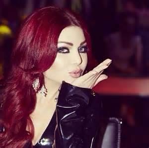 Haifa wehbe hairstyles and colors
