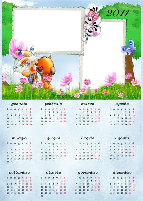 cornici foto gratis italiano creazioni calendari 2011 per bambini 2