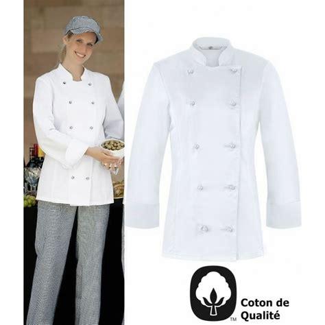 tenue cuisine femme veste de cuisine femme l 233 g 232 rement cintr 233 e oeilllets d a 233 ration coton peut bouillir