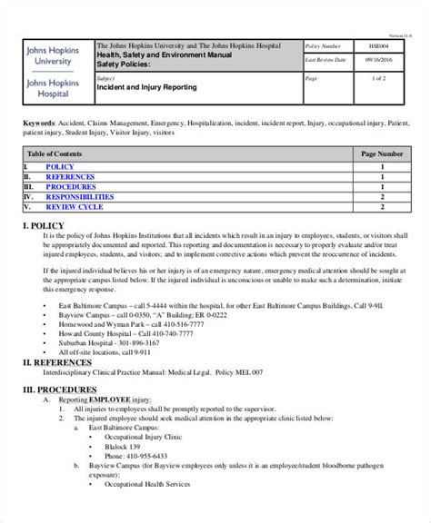 sle of an incident report sle of incident report in hospital 28 images sle