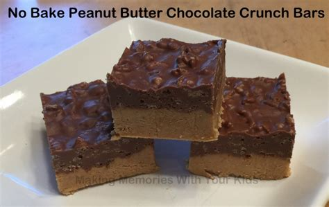 no bake peanut butter bars with chocolate on top no bake peanut butter chocolate crunch bars making memories with your kids