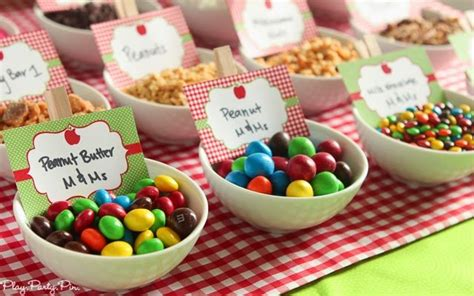 caramel apple bar toppings easy apple party ideas that are perfect for fall