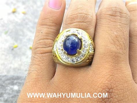 Harga Batu Cincin Safir Hitam batu cincin permata blue safir kode 343 wahyu mulia