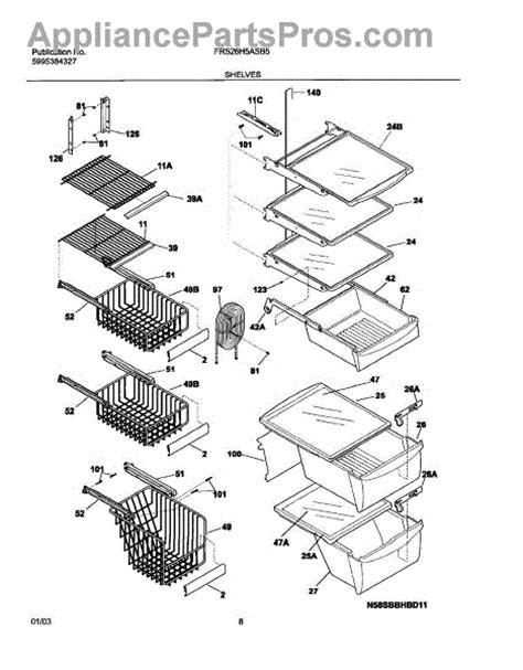 frigidaire refrigerator parts diagram frigidaire 240430501 channel water cover