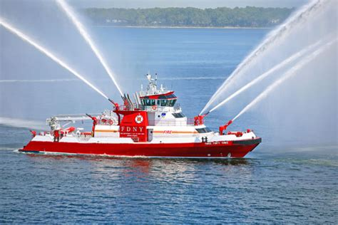 fireboat on fire 343 fireboat sea trials