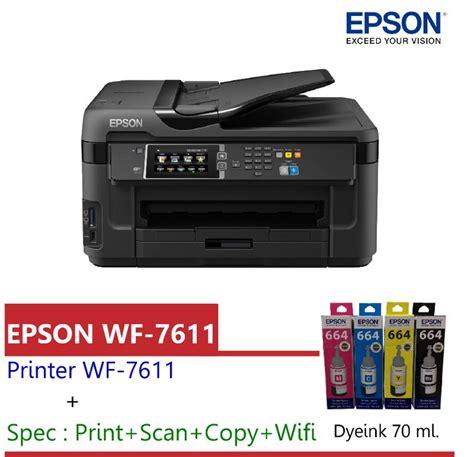 Printer Epson Workforce Wf 7611 เคร องสกร นเส อ เคร องพ มพ ว ตถ เคร องพ มพ ภาพ
