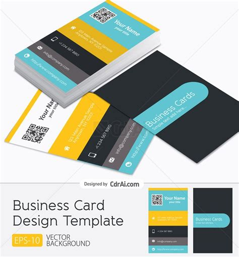 visiting card template ai business card design vector eps cdr ai file