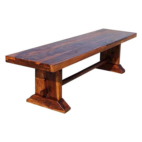 table benches louvre rustic solid wood indoor wooden bench