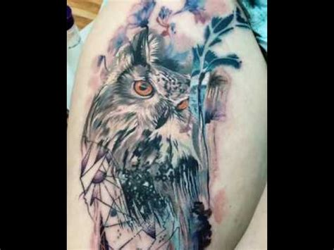 watercolor tattoo youtube abstract watercolor owl