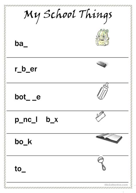 school objects matching b w worksheets kola pinterest all worksheets 187 school things worksheets printable