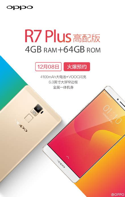 Oppo R7 Plus Ram 4gb oppo r7 plus variant with 4gb ram and 64gb storage announced