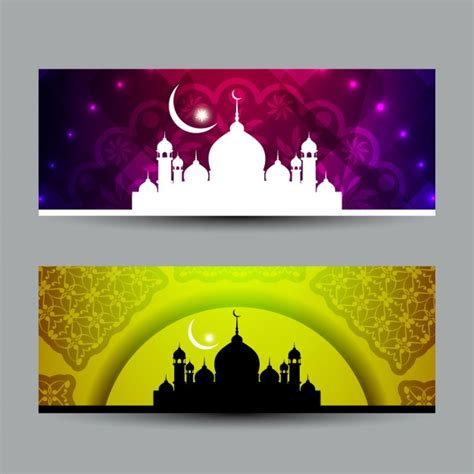 design banner islamic artistic islamic banners vector free download