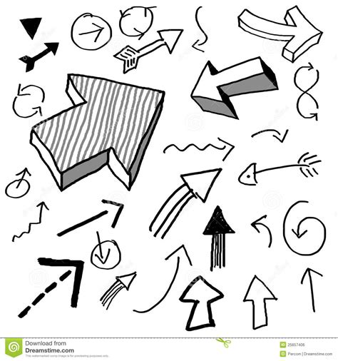 when i doodle i draw arrows doodle arrows stock illustration image of crayon