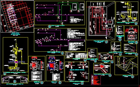 details  water supply networks  autocad cad