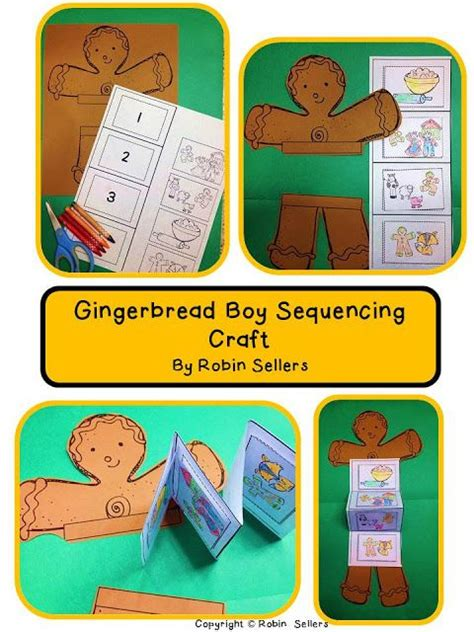gingerbread man sequencing cards gingerbread man craft