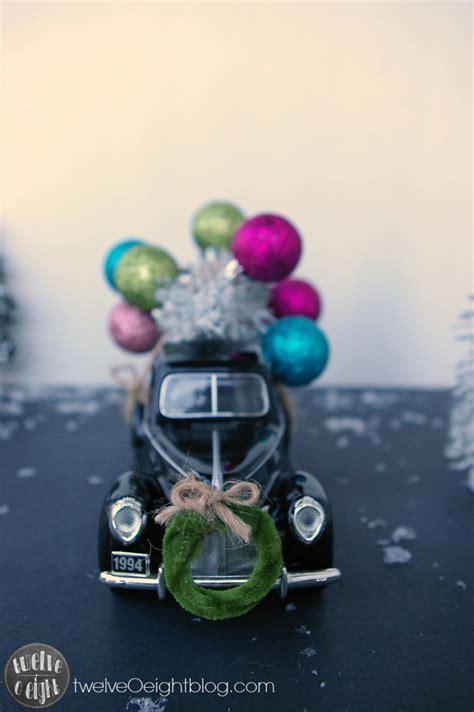 christmas trees on cars vintage style twelveoeight