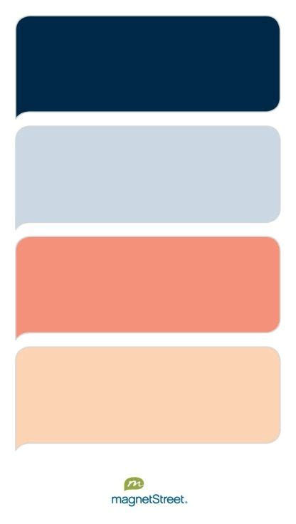 color schemes with navy navy custom blue coral and peach wedding color palette