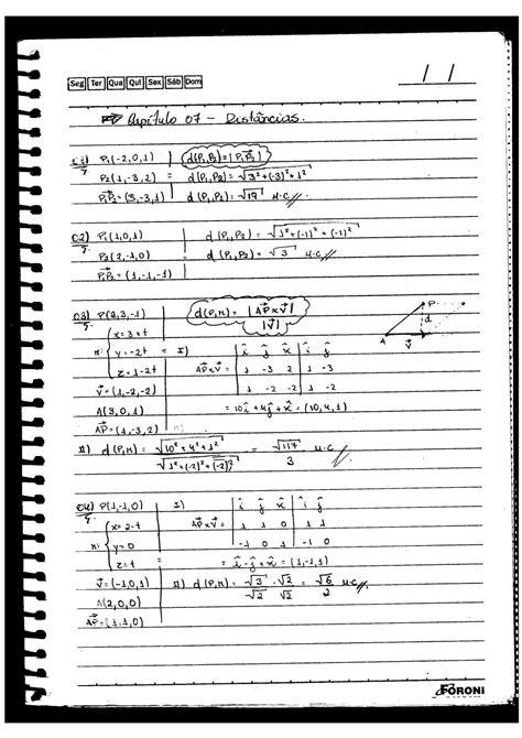 Resolução (capítulo 7) livro vetores e geometria analítica