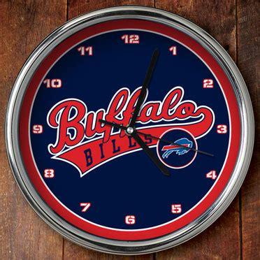 buffalo bills desk accessories buffalo bills nfl 12 quot chrome wall clock