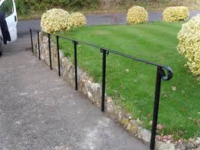 Outdoor Metal Handrail Fit Metal Handrail To Outdoor Steps Landscape Gardening