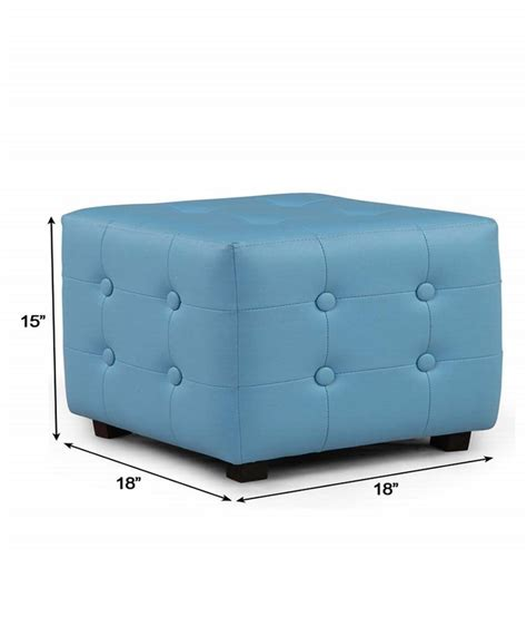 blue square ottoman arra candy square ottoman blue best price in india on 9th