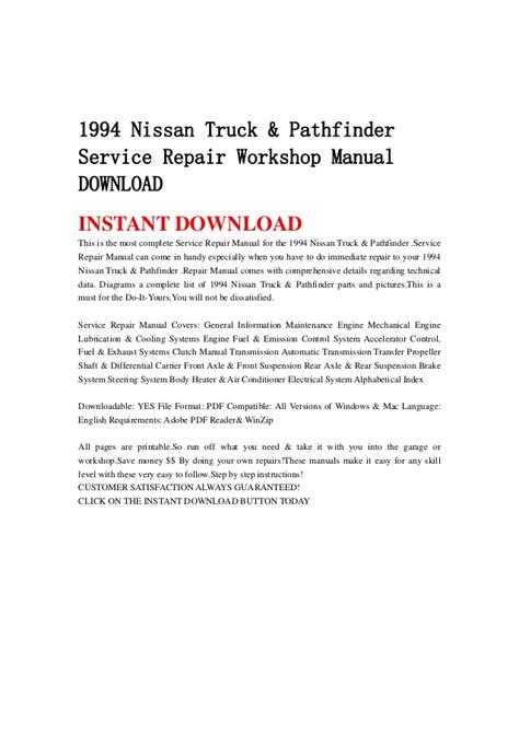 1994 nissan truck pathfinder service repair workshop manual download