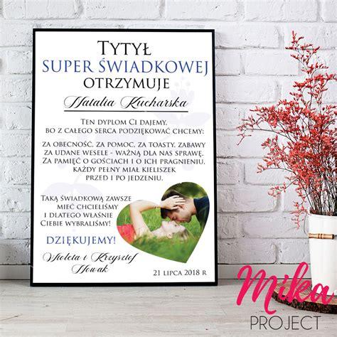 Plakat Mika by Podziekowanie Na Slub Dla Swiadka Plakat Obrazek Mika