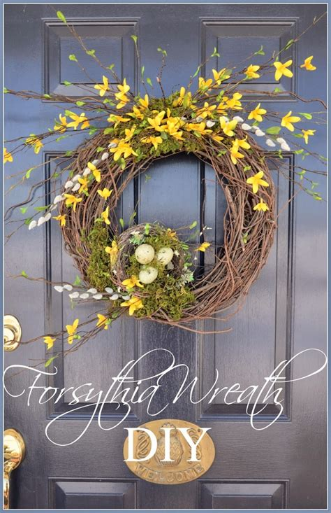 forsythia wreath tutorial forsythia wreath wreaths and easy the best of the best diy s of 2014 stonegable