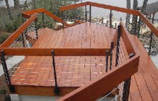 Iron Handrails Exterior Decks Com Cable Deck Railings
