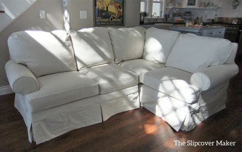 Sectional Sofa Slipcovers Sectional Slipcover In Duck Cloth The Slipcover Maker