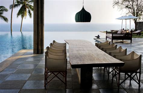 the cliff house dining room designs gallery the luxury cliff house in kerela outdoor
