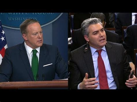 sean spicer no camera cnn reporter s tense exchange with sean spicer over no