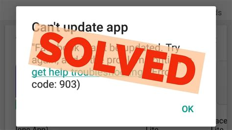 Can T Update Play Store Fix Can T Update App Error Code 903 From Play