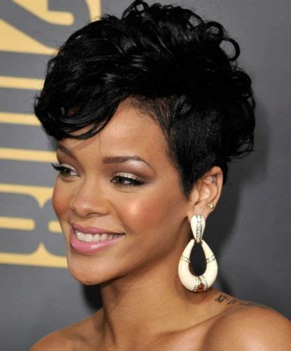 curling pixie cut on black women 6 of our favorite rihanna pixie hairstyles riri knows