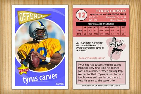 make your own football card pin by custom sports cards on football season