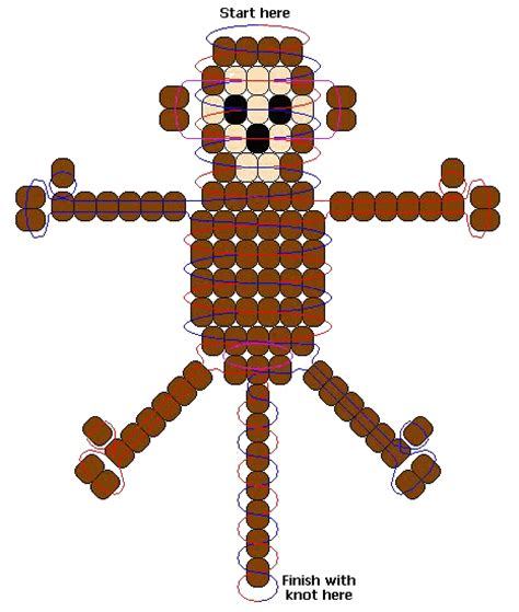 how to make a bead pet monkey pony bead summer lessons pony
